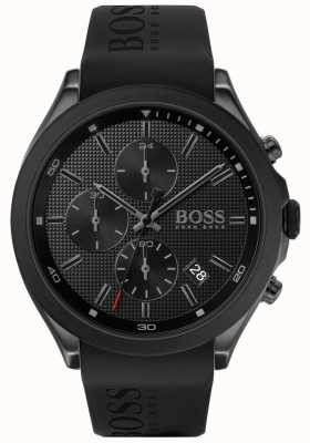 Boss  男人的速度 黑色橡胶表带 黑色表盘  1513720