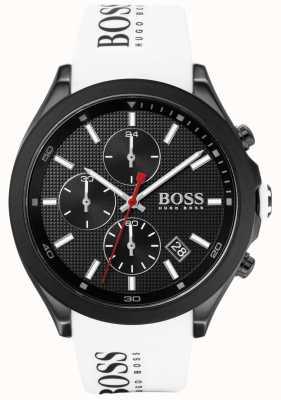 Boss |男人的速度|白色橡胶表带|黑色表盘| 1513718