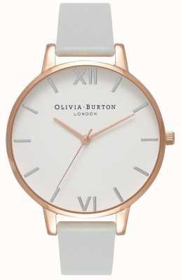 Olivia Burton |女装|大表盘|灰色素食主义者表带| OB16BDV02