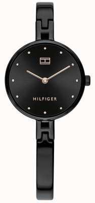 Tommy Hilfiger |女式套装|黑色不锈钢手链|黑色表盘 1782136 EX-DISPLAY