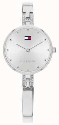 Tommy Hilfiger  女士套装 不锈钢手链 银色表盘  1782137