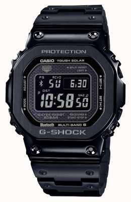 Casio | g-shock全金属|坚韧的太阳能|数字拨号|黑色 GMW-B5000GD-1ER
