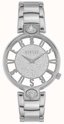 Versus Versace |女士的kirstenhof |银钢手链|闪光表盘 VSP491319