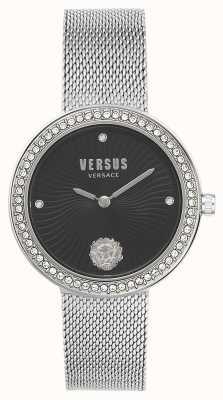 Versus Versace |女装lea |银网手链|黑色表盘| VSPEN0719
