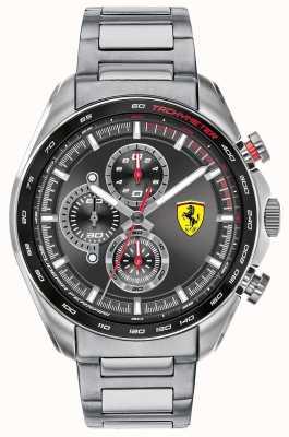 Scuderia Ferrari |男子速度赛车手不锈钢手链|黑色表盘 0830652