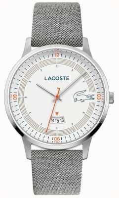 Lacoste |男士马德里|灰色皮革表带|白色表盘| 2011031