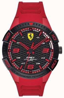 Scuderia Ferrari |男士的顶点|红色橡胶表带|黑/红拨号| 0830664