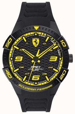 Scuderia Ferrari |男士的顶点|黑色橡胶表带|黑/黄色表盘| 0830663
