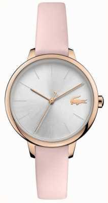 Lacoste  女人的戛纳 粉色皮革表带 银色表盘  2001101