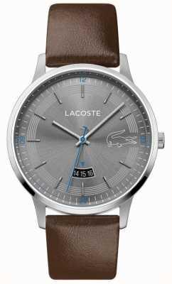 Lacoste |男人的马德里|棕色皮革表带|灰色表盘 2011033