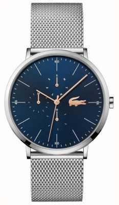 Lacoste |男人的月亮多|钢网手链|蓝色表盘| 2011024