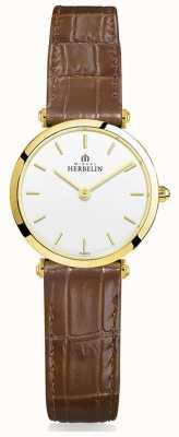 Michel Herbelin |女士| epsilon |棕色皮革表带 17106/P11GO