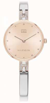 Tommy Hilfiger  女式套装 不锈钢手链 玫瑰金表盘  1782138