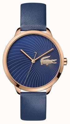 Lacoste  女人的lexi  蓝色皮革表带 蓝色表盘  2001058