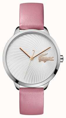 Lacoste  女人的lexi  粉色皮革表带 银色表盘  2001057