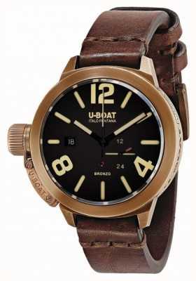 U-Boat Classico 50 bronzo棕色表带 8104