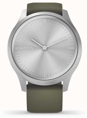 Garmin Vivomove 3风格 银铝外壳 苔藓硅胶表带 010-02240-01