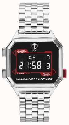 Scuderia Ferrari |男士digidrive |不锈钢手链|黑色表盘| 0830703