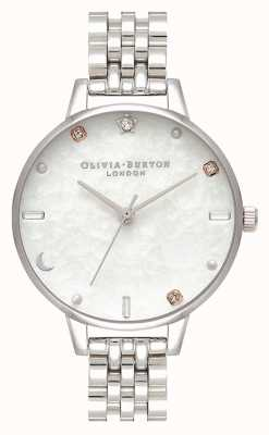 Olivia Burton |星空月亮银手链|珍珠母 OB16GD30