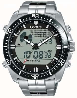 Lorus  男士二重奏展示 不锈钢手链  R2B03AX9