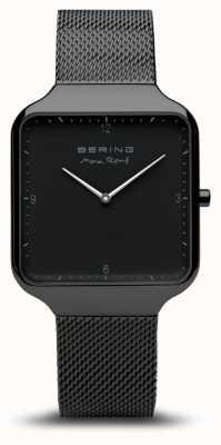 Bering | maxrené|黑色钢网手链|黑色表盘| 15836-123