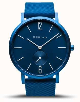 Bering |真正的极光|蓝色橡胶表带|蓝色表盘| 16940-799