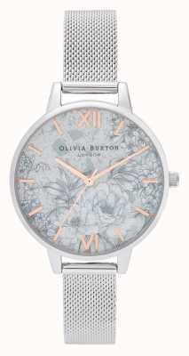 Olivia Burton |女士|水磨石花香|银色手链| OB16TZ06