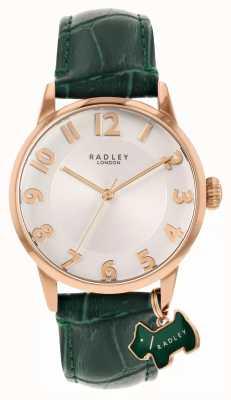 Radley 利物浦街|绿色皮革表带|白色表盘| RY2870