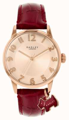 Radley 利物浦街|酒红色皮革表带|玫瑰金表盘| RY2866