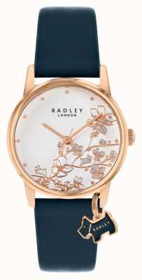 Radley 植物花卉|海军皮革表带|银色花卉表盘| RY2880