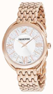 Swarovski |结晶华丽镀玫瑰金手链|银色表盘 5452465