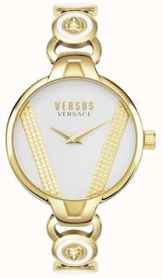 Versus Versace |圣日耳曼|镀金不锈钢|白色表盘| VSPER0219