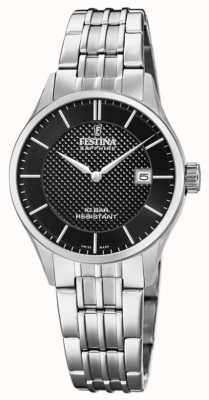 Festina |女士瑞士制造|不锈钢手链|黑色表盘 F20006/4
