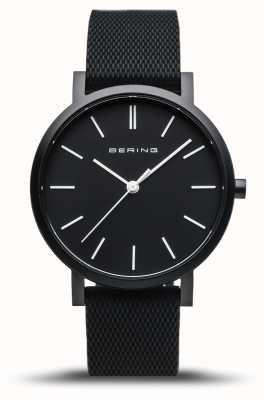 Bering  真正的极光 黑色橡胶表带 黑色表盘  16934-499