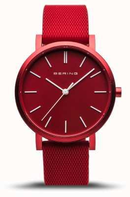 Bering |真正的极光|红色橡胶表带|红色表盘| 16934-599