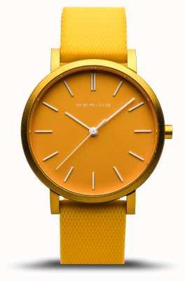 Bering  真正的极光 黄色橡胶表带 黄色表盘  16934-699
