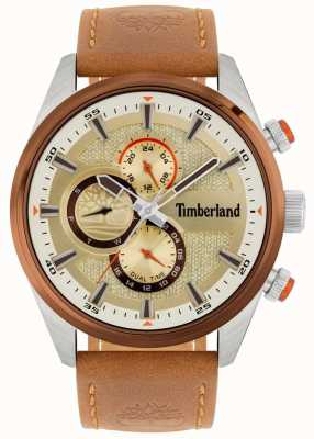 Timberland |男士ridgeview |棕褐色皮革表带|矿物表盘| 15953JSTBN/04