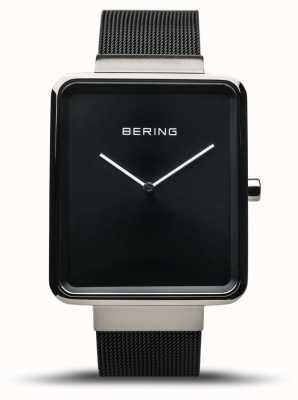 Bering  男士经典 黑色网眼手链 黑色表盘  14533-102