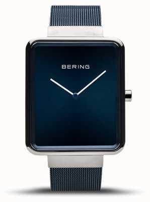 Bering |男士经典|蓝色网眼手链|蓝色表盘| 14533-307