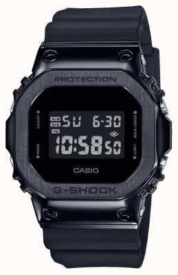 Casio G-SHOCK金属表圈系列|黑色树脂表带|数字 GM-5600B-1ER