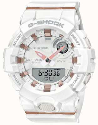 Casio | g-shock g-小队|白色橡胶表带|蓝牙智能| GMA-B800-7AER