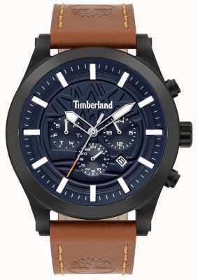 Timberland 精明的街头|棕色皮革表带|蓝色表盘| 15661JSB/03