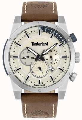 Timberland 户外寻找器|棕色皮革表带|银表盘| 15951JS/04