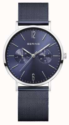 Bering |女装经典|蓝色网眼手链|蓝色表盘| 14236-303