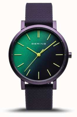 Bering |真正的极光|紫色橡胶表带|绿色紫色表盘| 16934-999