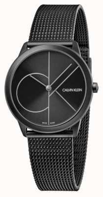 Calvin Klein 中性|最小黑色pvd网格|黑色表盘 K3M5245X