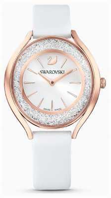 Swarovski |女装|结晶光环|白色皮革表带| 5519453