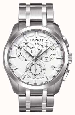 Tissot 男士couturier计时码表不锈钢银色表盘 T0356171103100