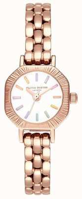 Olivia Burton |彩虹浅玫瑰金手链|白色表盘| OB16CC50
