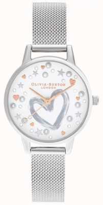 Olivia Burton 玫瑰金和银色网状手链 OB16LH12
